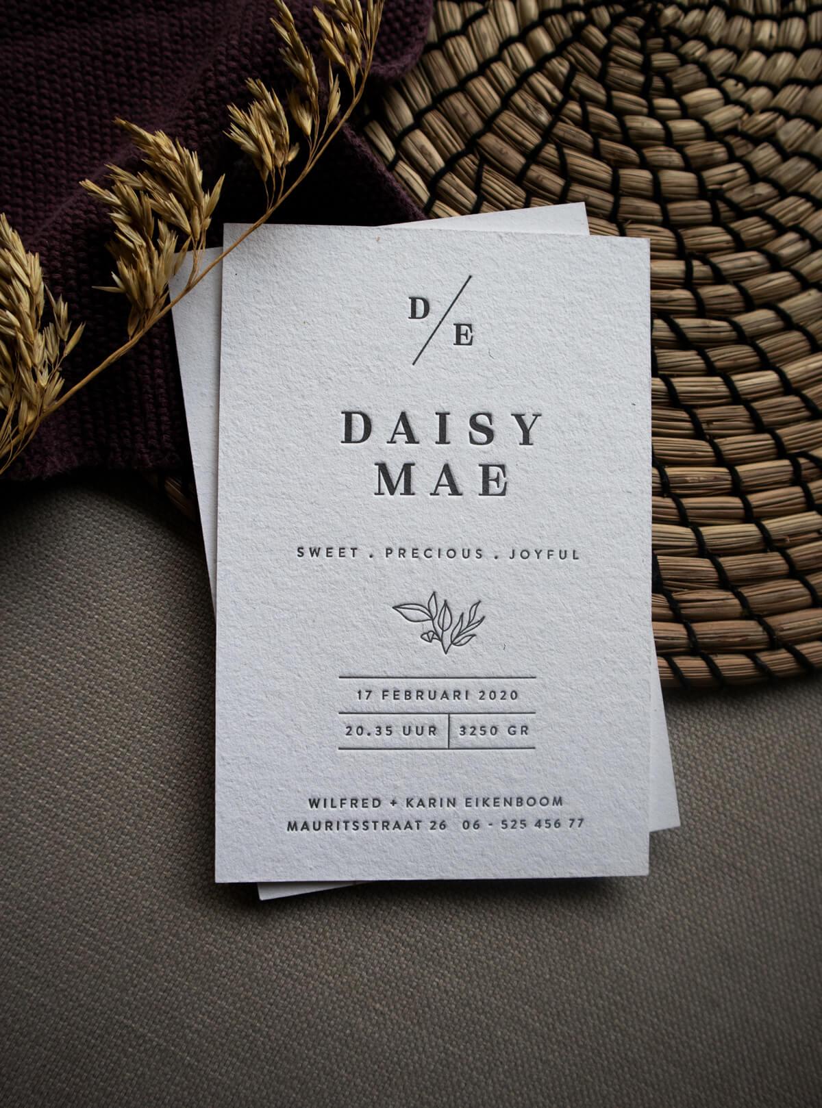 Daisy Geboortekaart